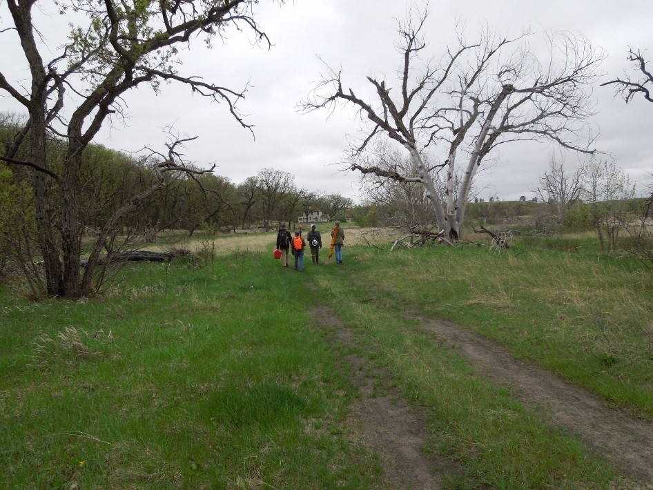 Nebraska crew walking