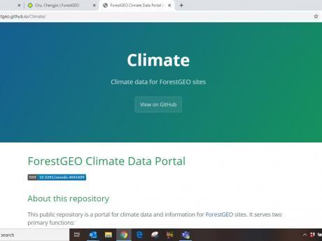 Screenshot of Climate Data Portal website.