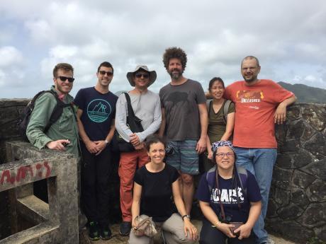 group on hike