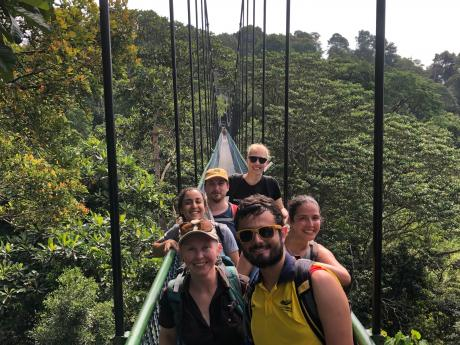 Group photo on a TreeTop canopy walk.